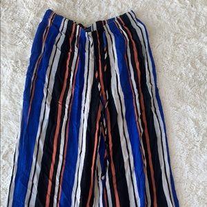 Stripped beach pants